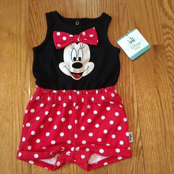 22fc8eb50253 NEW Minnie Mouse Romper for Newborn Girl